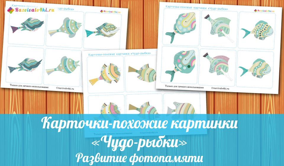 Карточки для развития фотопамяти