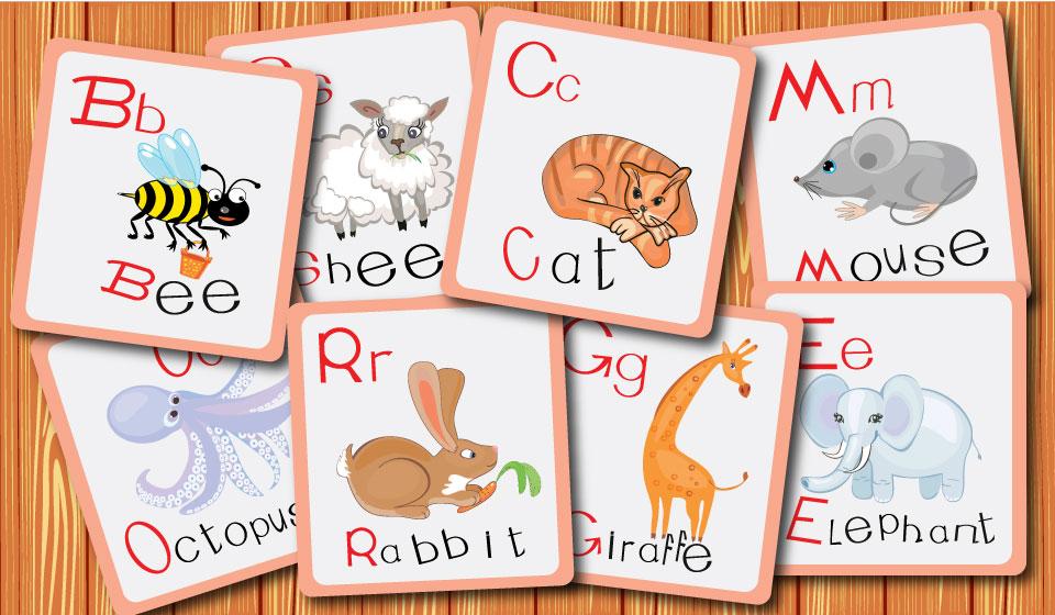 Карточки английского алфавита с иллюстрациями