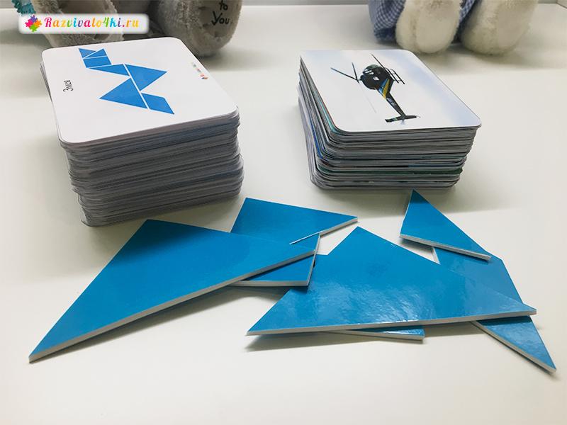 Карточки со схемами к танграм с картинками