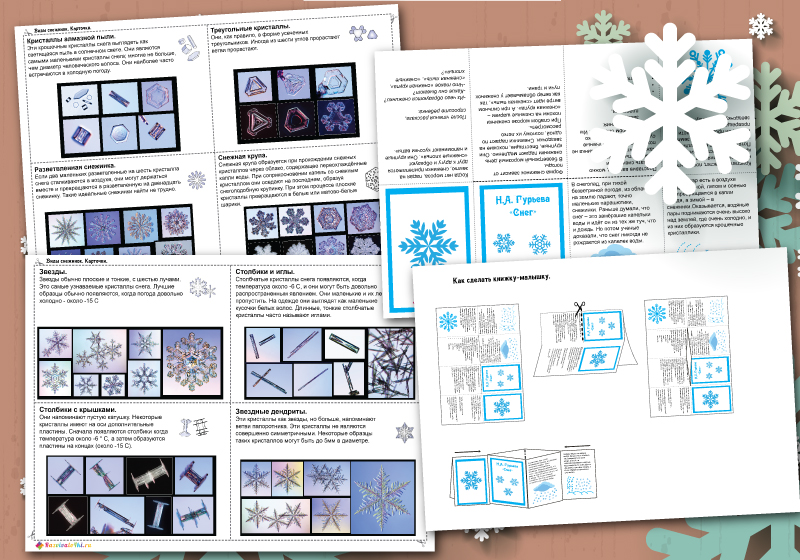 Тематический комплект Снежинки