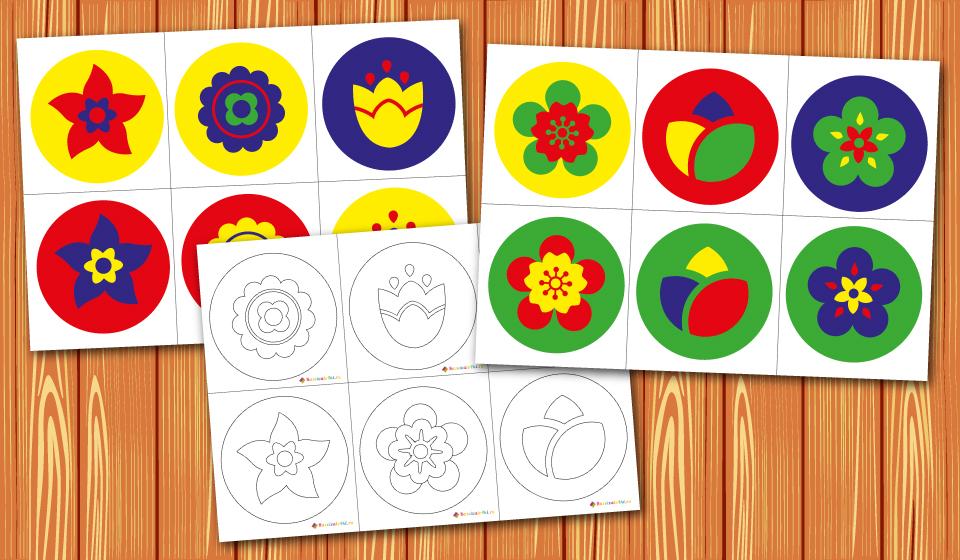 мандалы 4 цвета