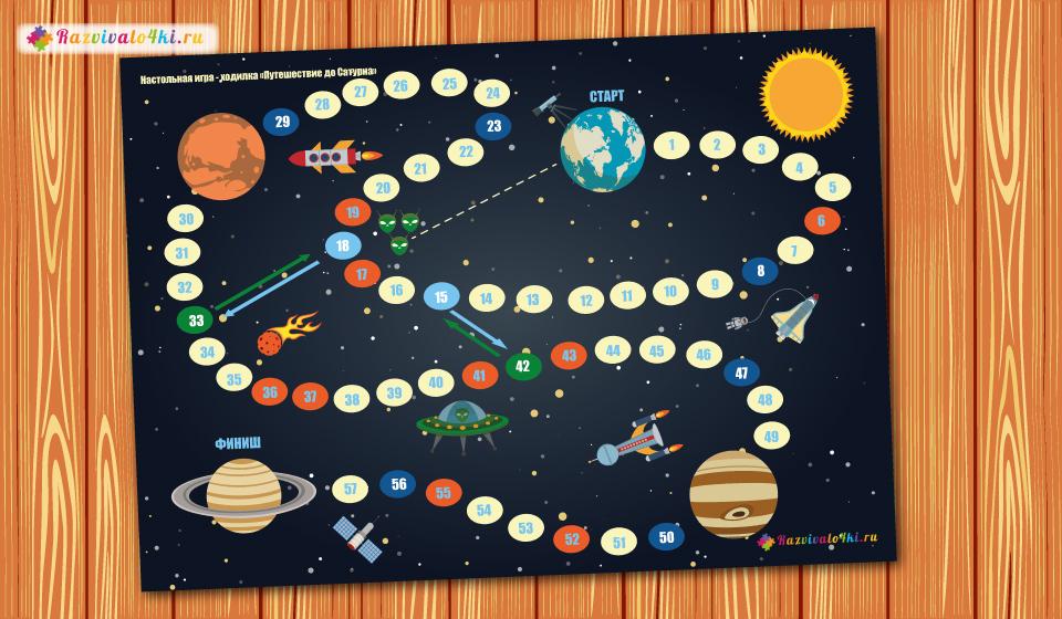 настольная игра для детей, космос