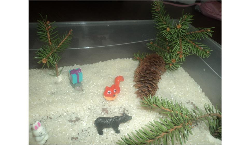 Сенсорная коробка «Зимний лес»