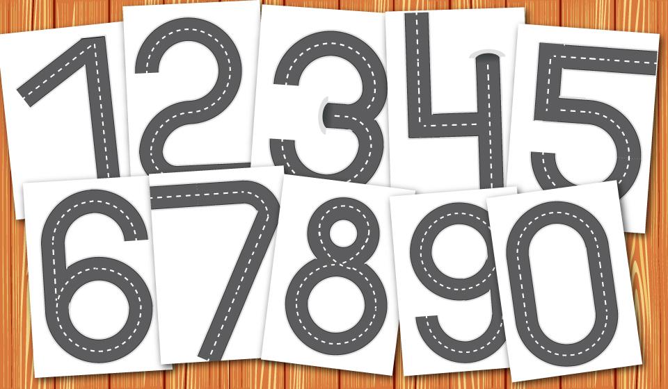 цифры, цифры дорожки