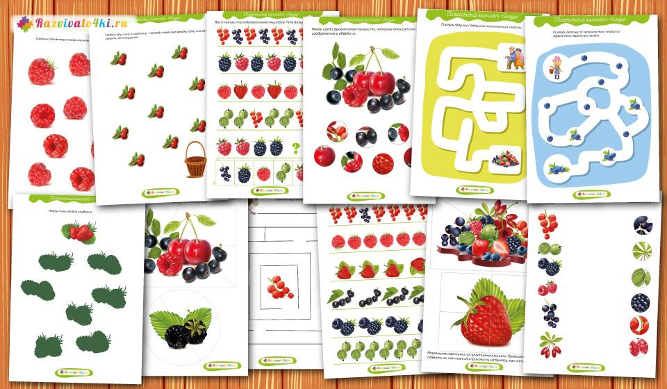 комплект игр о ягодах